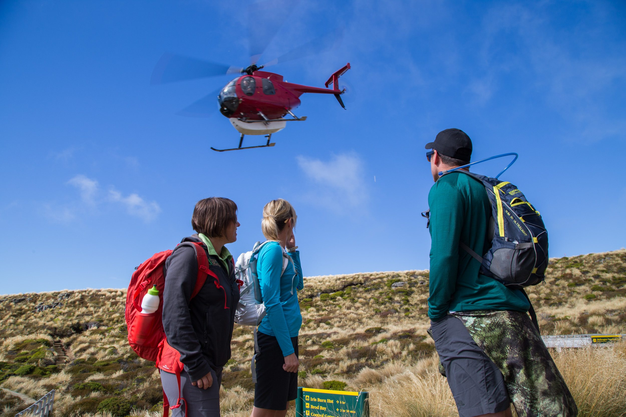 With the easy part over bid farewell to the helicopter and prepare for your hiking experience