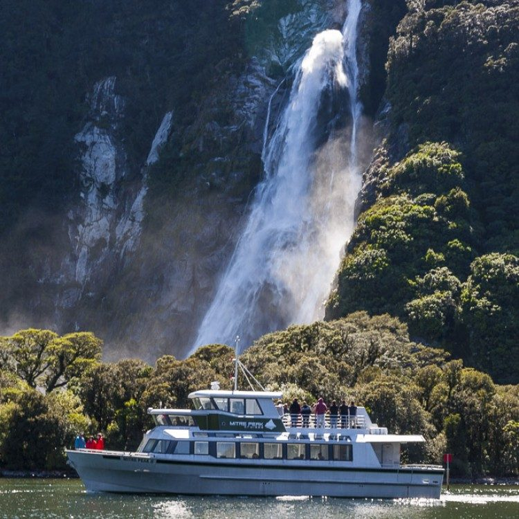 Cruise past Bowen Falls during your boat cruise