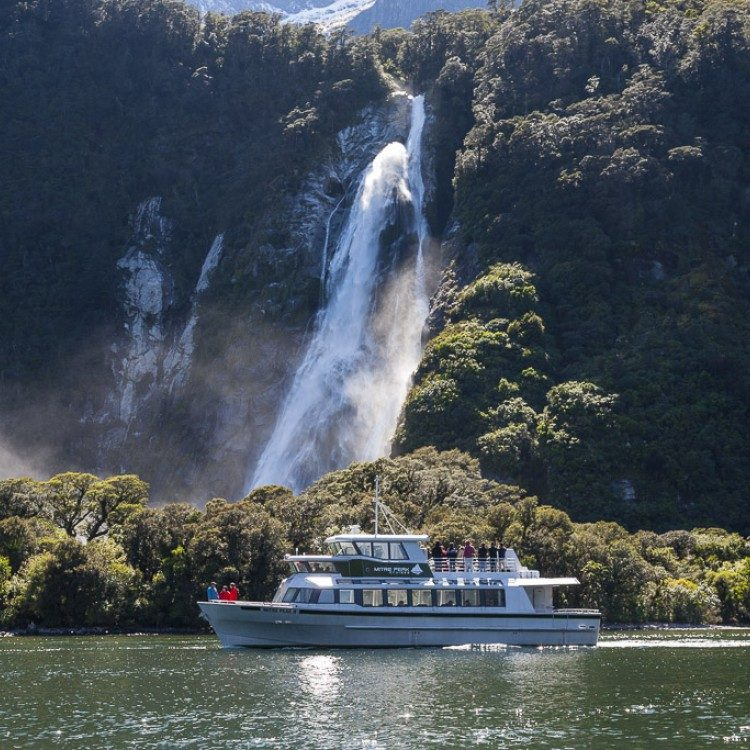 Experience a small boat cruise on the beautiful Milford Sound