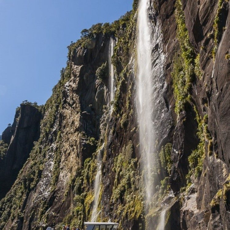 Get up close to the waterfalls and steep mountain sides.