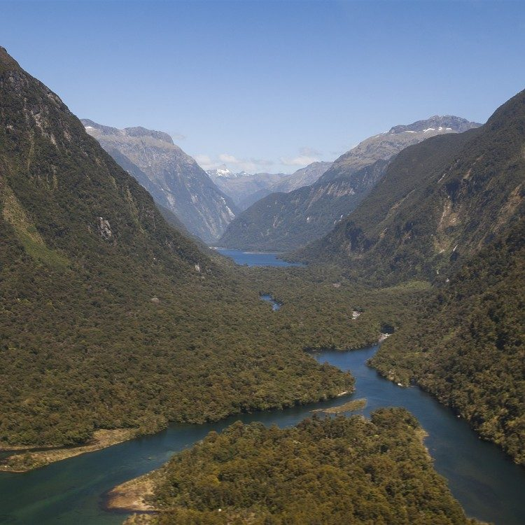 The Fiordland wilderness stretches as far as the eye can see