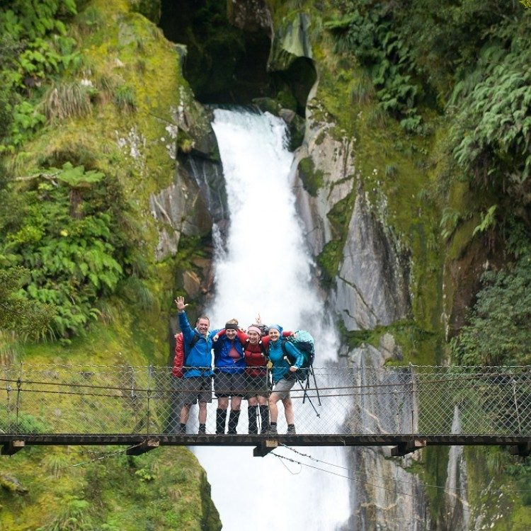 Independent hikers on the Milford Track