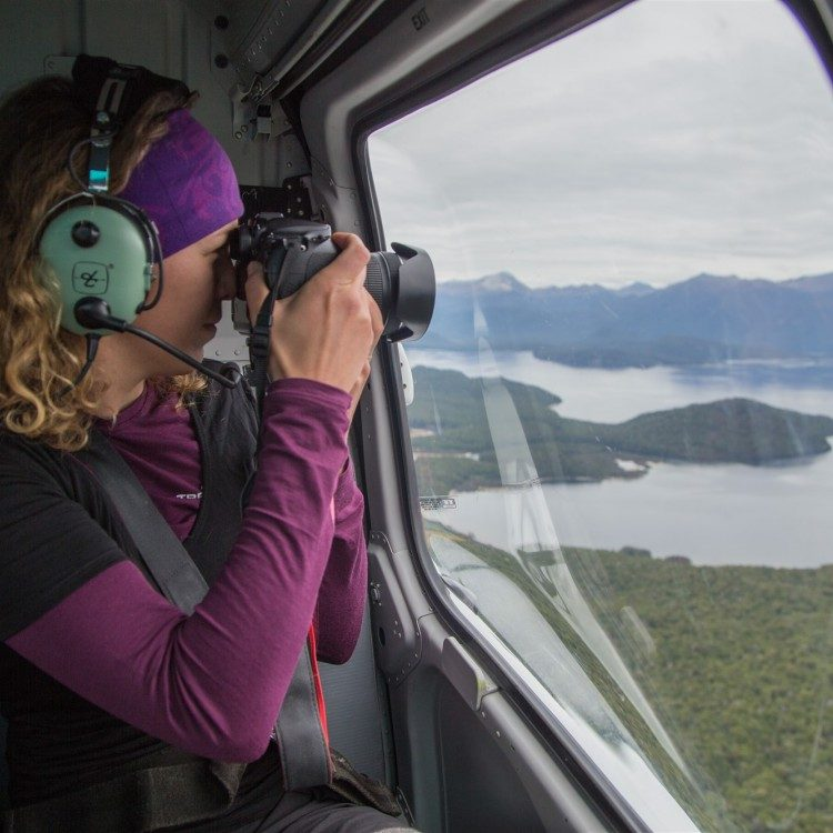 Photos from the helicopter as you begin your Kepler Heli Hike