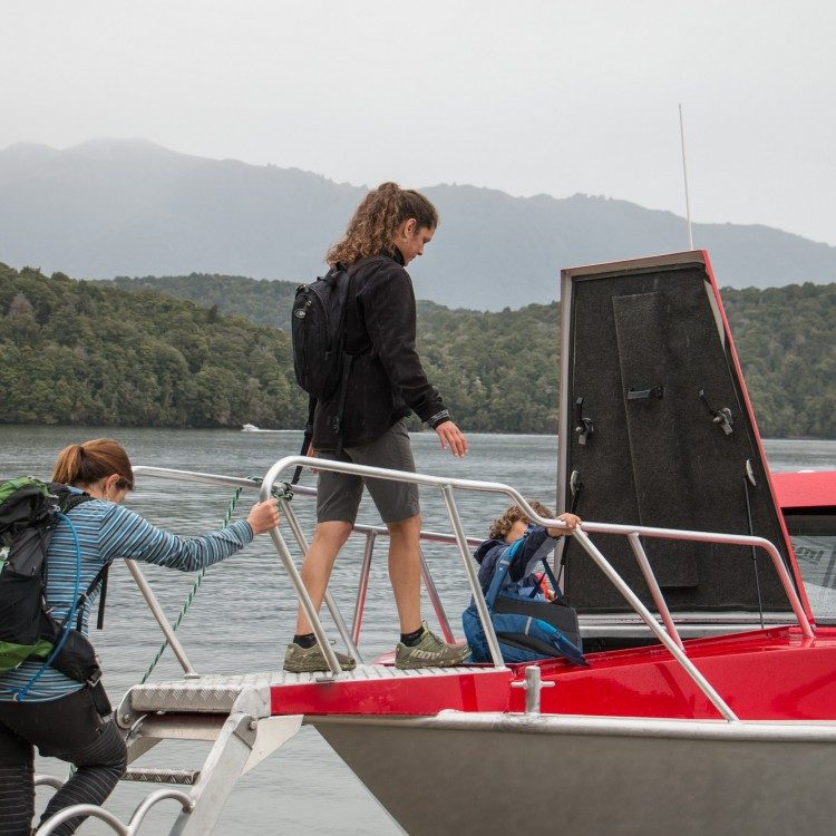 Get to Brod Bay without getting your feet wet with the Kepler Water Taxi