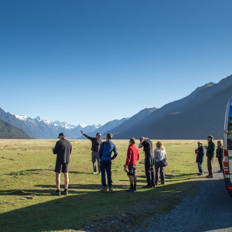 The Eglinton Valley is a amazing view point along the way