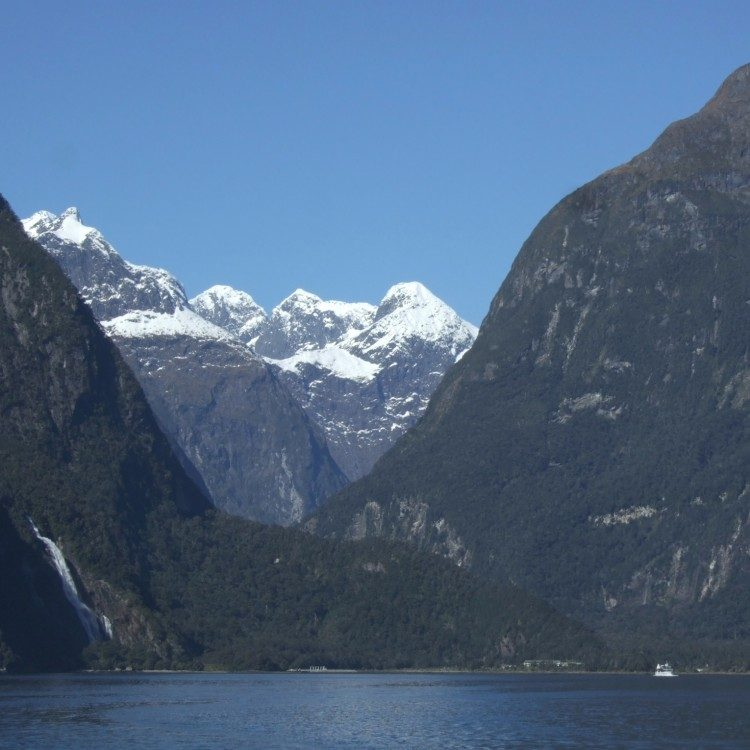 Looking back towards the Milford Sound boat terminal