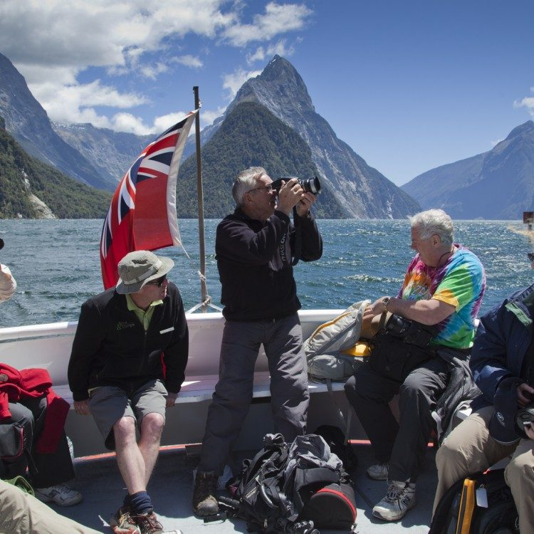 Travel across the fiord to the start of the Milford Track by boat
