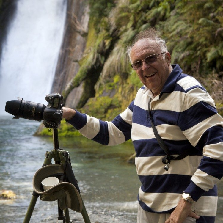 Photographer at Giant Gate Waterfall enjoying the view