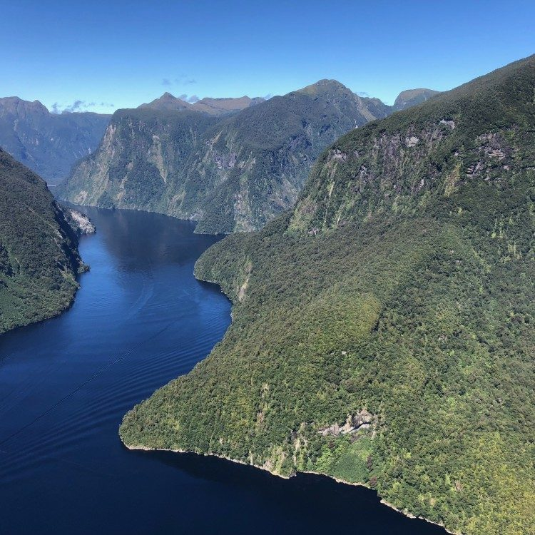 Doubtful Sound by air on a perfect day