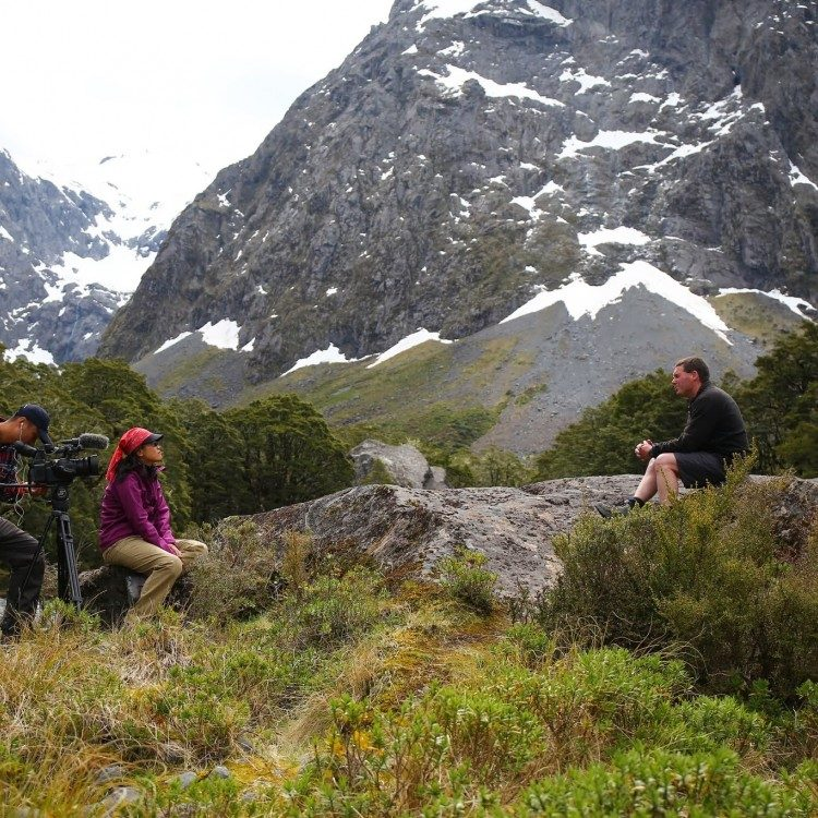 Seen as the best local guides we often participate in film programmes in Fiordland